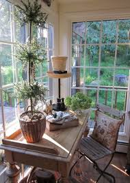 Vintage Sunporch A Cosy Office Space In The Corner With Cafe Chair Desk And Great View Of Garden