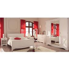 chambre complete blanche blanche complète imitation pin maryline