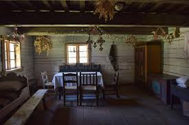 Download Interior Of Old Rural Wooden House Stock Photo