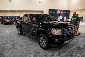 Miami, USA - September 10, 2016: GMC Canyon Pickup Truck On Display ...
