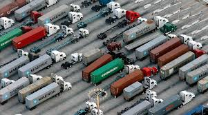Los Angeles, Long Beach Turn Times Drop As Cargo Volume Grows To ... Sergio Trucking School Provids Cdl California Truck Driving Jobs Best Image Kusaboshicom Tanker Local In Los Angeles Ca Resource 13 Best Driver Educational Books Images On Pinterest Cars Chicago Drivers Vow To Shut Down Ports Over Emissions Rules Crosscut 18year Olds 18wheelers Across State Lines Countable No Tokes For Truckers Marijuana And Drivers Alltruckjobscom National Truck Driver Shortage Affects Long Island Newsday Cover Letter Cdl Bojeremyeatonco News Third Party Logistics Nrs Craigslist Class A