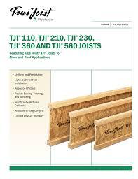 Tji Floor Joist Span by Specifier S Guide