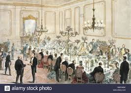 English A State Dinner Held At The White House During Ulysses S Grants