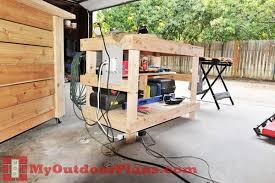 diy wood workbench plans myoutdoorplans free woodworking plans