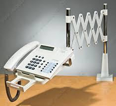 support telephone bureau support de téléphone à bras télescopique