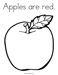 Apples Are Red Coloring Page