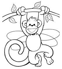 Printable Free Monkey Coloring Pages