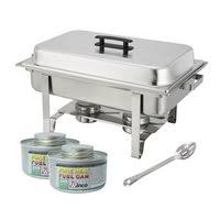 Winware Set Of 2 Stainless Steel Full Size Chafer 8 Quart Chafing Dish With