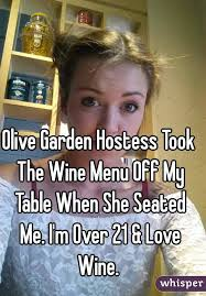 Garden Hostess Took The Wine Menu f My Table When She Seated Me