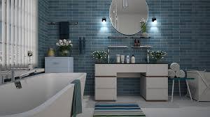 badezimmer blau fliese kostenloses foto auf pixabay