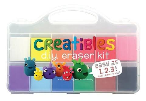 International Arrivals Creatibles DIY Eraser Kit - Set of 12