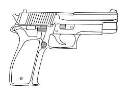 Pistol Gun Coloring Pages