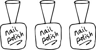 For Nail Salon Clipart Black And White