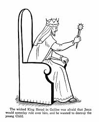 King Herod Coloring Page