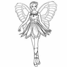 Barbie And The Magic Of Pegasus Butterfly Princess Coloring Page