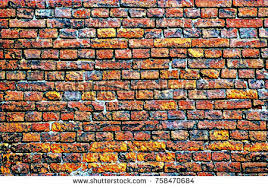 Abstract Brick Wall Background For Wallpaper DesingPlace Text On Custom Drawn Backdrop With Building