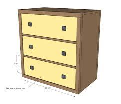 Tool Box Dresser Diy by Ana White Three Drawer Rolling Dresser Diy Projects