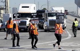 Truckers At Ports Of Los Angeles, Long Beach Strike Again, Oppose ... Port Drivers Target Carson Trucking Firm Ktla Petrobras Nysepbr Responds To Brazilian Strike And Getting Your Own Authority In Landstar Ipdent Of Long Beach Los Angeles Truck Drivers Begin Strike Allege Launch Definite At Ports Union Truck Driver Best Image Kusaboshicom Dominican Truckers On Suspend Supplies To Haiti Youtube Industry Labor Dispute May Cripple West Coast Again Anatomy A Newspaper Days La And Workers Continue Cinemontage 1979 Press Photo Teamsters Trucking Historic Images The Truckers How Whatsapp Is Chaing The Rules