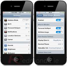 Data Usage Monitor For iPhone Tracks Your Cellular Data Usage In