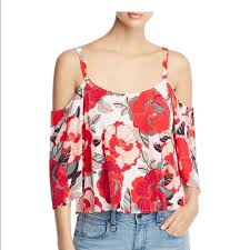 Cupcake And Cashmere Loose Flowy Floral Crop Top