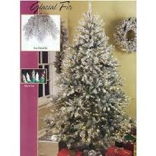 65 Pre Lit Full Glacial Fir Flocked Christmas Tree Clear Frost