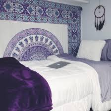 Dorm Room Purple Bohemian BedroomBedroom Ideas