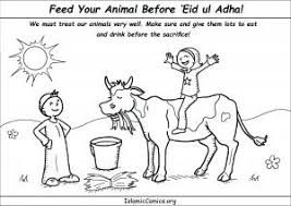 Feed Your Animal Well Before Eid Ul Adha Coloring Page