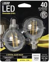 here s a great deal on bpg1640 827 led 2 40w equivalent clear g16