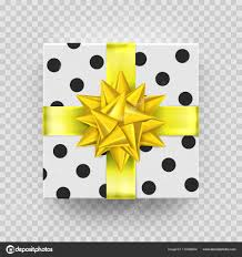 Vector Christmas t box isolated on transparent background for New Year holiday or Birthday greeting card design — Vector