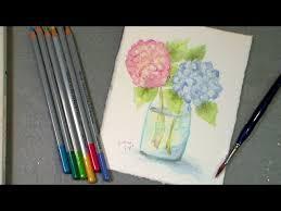 Watercolor Hydrangea Two Ways