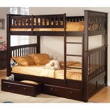 full over full bunk bed espresso home pinterest full bunk