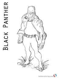 Black Panther Villain Marvel Coloring Page Printable Download