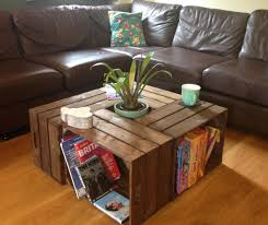 Wood Crate Coffee Table Fit For Small Home Full Size Of Wine Side Tables