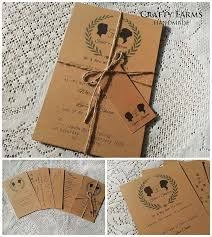 Lets Go For A Simple Rustic Earthy Wedding These Cards Are Made Of 100 Recycled Kraft Brown And Is Accompanied With Customized Thank You