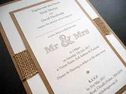 Rustic Hessian And Kraft Themed Wedding Invitation