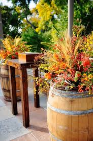 Cool Idea For A Fall Patio Decoration From Modern Rustic Wedding Wine Barrel