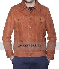 real suede leather jacket mens fashion clothing store