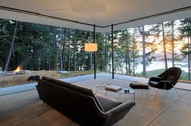 View In Gallery Breathtaking Scenery Outside Becomes The Canvas For Open Living Room