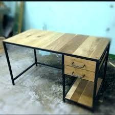 bureau metal et bois bureau industriel metal table metal coffee table industrial base