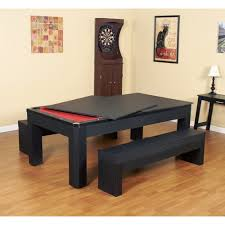 Dining Room Pool Table Combo by Park Avenue 7 Ft Pool Table Set With Benches And Top Pool Warehouse