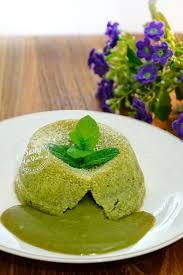 green tea matcha molten lava cake bali food