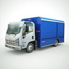 100 Free Truck Isuzu NPR Beverage Truck 3D Model 35 Unknown Xsi Obj