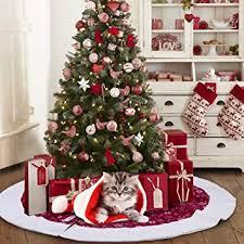 Christmas Tree Amazonca by Aerwo 48inch Velvet Snowflake Christmas Tree Skirt 2018 New Year