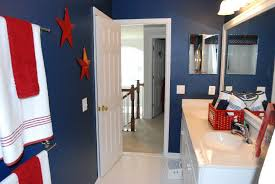 Royal Blue Bathroom Wall Decor by So I Wanted To Share My Almost Complete Boys Nautical Bathroom