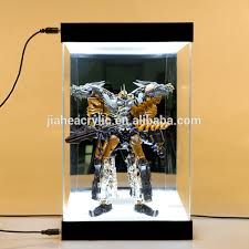 Perspex Organic Glass Led Light Clear Acrylic Box Display Case For Action Figure