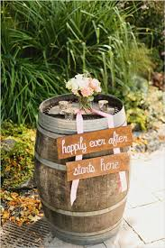 Wine Barrel Decorations With Signs For Country Rustic Wedding Ideas