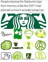 Starbucks How And Logo People Drawing The From Memory Is Like