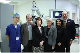 In This Trial Professor MacLaren Is Using An Operating Microscope With Integrated Optical Coherence Tomography OCT That Will Refine The Surgery