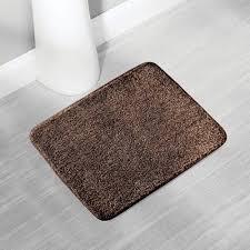 mdesign badmatte weicher und schnelltrocknender badvorleger duschvorleger aus mikrofaser polyester braun