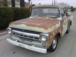1957 Ford F100 FARM TRUCK Short Bed W/ Nice PATINA For Sale In El ... 1957 Ford F100 For Sale Classiccarscom Cc898086 Sale 2130265 Hemmings Motor News Near Cadillac Michigan 49601 Classics On Truck For Top Car Release 2019 20 Ford F100 Stock Google Search Thru The Years Farm Truck Short Bed W Nice Patina In El Youtube Stepside Boyd Coddington Wheels Truckin Magazine Classic Parts Montana Tasure Island Vintage Pickups Searcy Ar 223 Line 6 3speed Manual Shoprat Rod